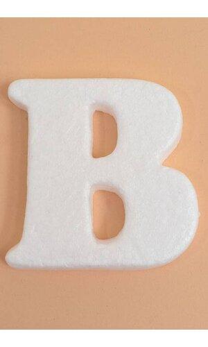 """4"""" MOLD-FOAM LETTER """"B"""" PKG/20"""