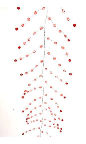 "48"" IRIDESCENT BEADED GARLAND PINK/RED EA"