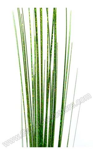 """36"""" GLITTER LASER GRASS BUSH APPLE GREEN PKG/12"""