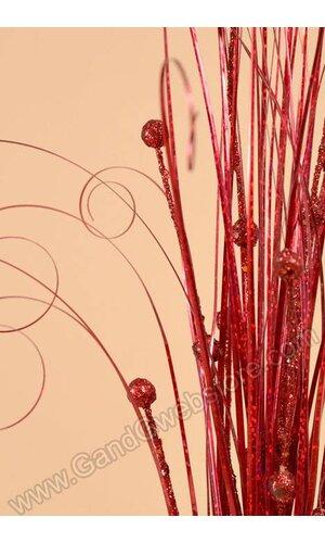 "30"" PVC GRASS W/BERRY RED"