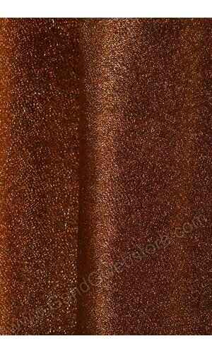"60"" X 15YDS SHIMMER ORGANZA FABRIC BROWN"