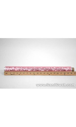 """20"""" X 30' POLY EMBOSSED FOIL PINK EA"""
